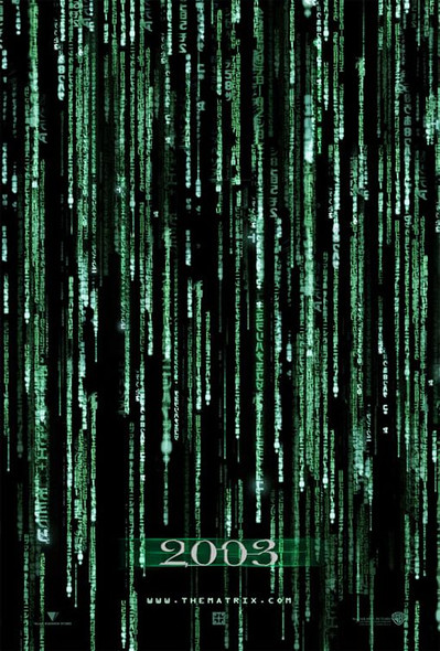 THE MATRIX RELOADED (DOUBLE SIDED Advance UV Coated) (2003) ORIGINAL CINEMA POSTER