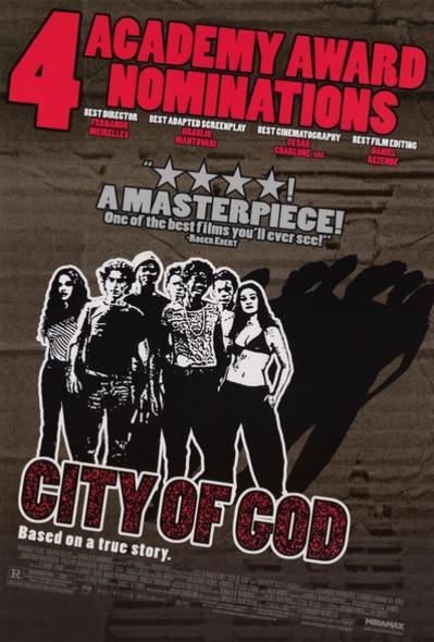 CITY OF GOD (DOUBLE SIDED Academy Awards) (2002) ORIGINAL CINEMA POSTER