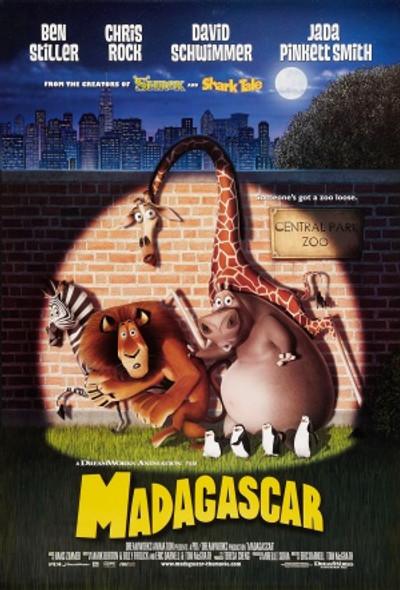 MADAGASCAR (DOUBLE SIDED Regular) (2005) ORIGINAL CINEMA POSTER