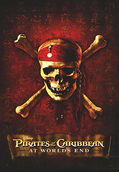 PIRATES OF THE CARIBBEAN: AT WORLDS END (Advance Reprint) (2003) REPRINT CINEMA POSTER