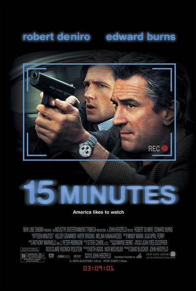 15 MINUTES (2001) ORIGINAL CINEMA POSTER