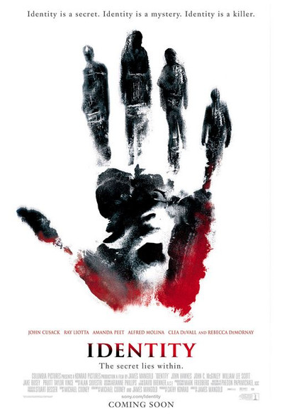 IDENTITY (SINGLE SIDED Regular) (2003) ORIGINAL CINEMA POSTER