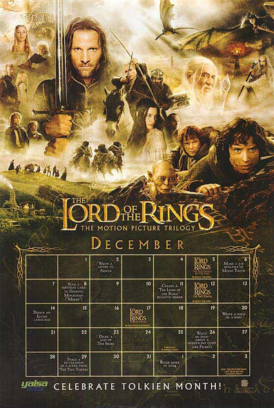 THE LORD OF THE RINGS: THE MOTION PICTURE TRILOGY (2003) ORIGINAL CINEMA POSTER