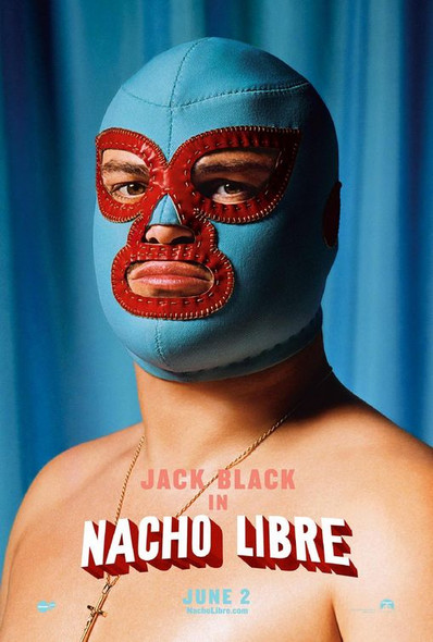 NACHO LIBRE (Double-sided Advance Style D Face Mask) (2006) ORIGINAL CINEMA POSTER