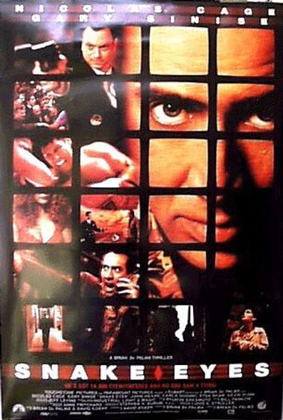 SNAKE EYES (DOUBLE SIDED Regular) (1998) ORIGINAL CINEMA POSTER