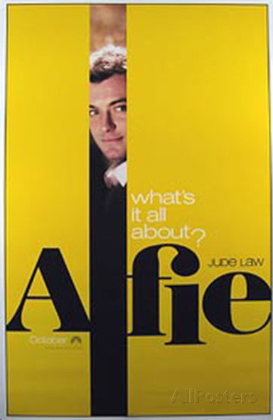 ALFIE (SINGLE SIDED Advance Yellow) (2004) ORIGINAL CINEMA POSTER