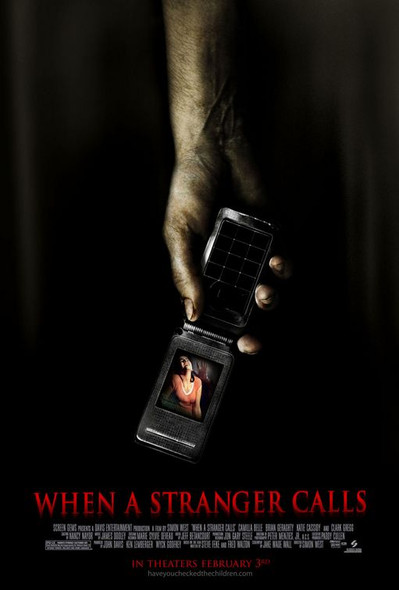 WHEN A STRANGER CALLS (Single-sided Regular) (2006) ORIGINAL CINEMA POSTER