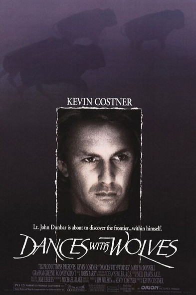 DANCES WITH WOLVES (DOUBLE SIDED Regular) (1990) ORIGINAL CINEMA POSTER