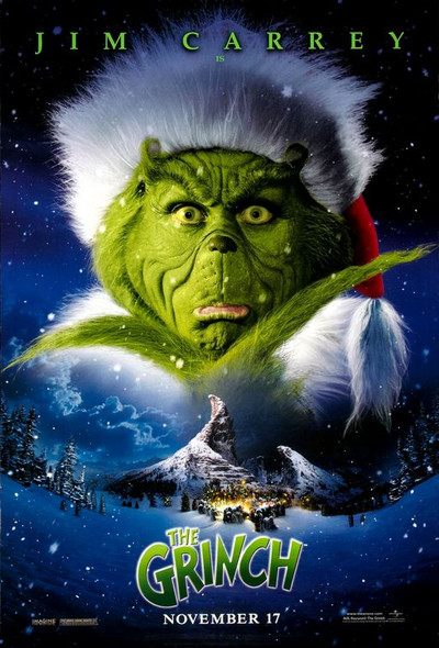 THE GRINCH (Advance Style B SINGLE SIDED) (2000) ORIGINAL CINEMA POSTER