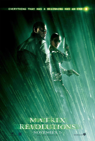 The Matrix Revolutions Morpheus & Trinity Reprint Cinema Poster