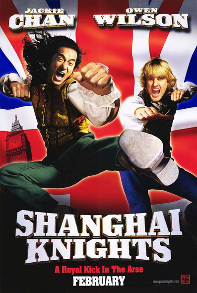 SHANGHAI KNIGHTS (SINGLE SIDED Advance) (2003) ORIGINAL CINEMA POSTER