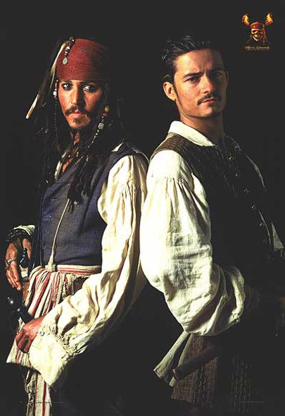 PIRATES OF THE CARRIBEAN: DEAD MAN'S CHEST (Depp & Bloom Reprint) (2006) REPRINT CINEMA POSTER