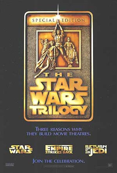 STAR WARS TRILOGY (Reprint) (1977) REPRINT CINEMA POSTER