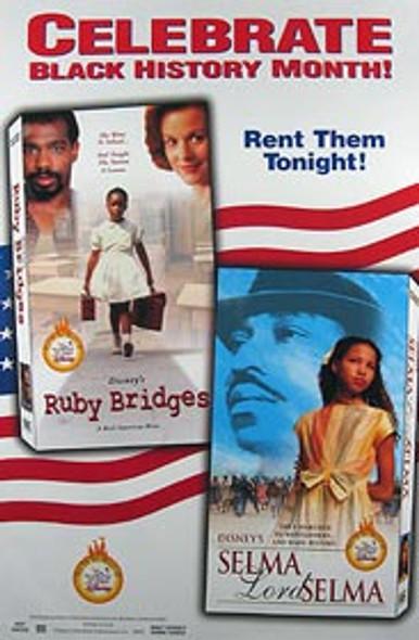 RUBY BRIDGES/SELMA LORD SELMA (Video Combo) (1998) ORIGINAL CINEMA POSTER