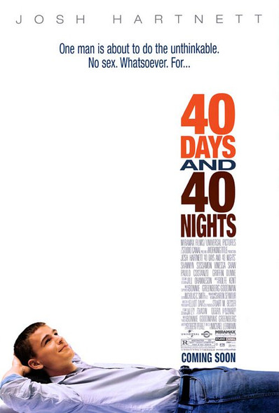 40 DAYS AND 40 NIGHTS (2002) ORIGINAL CINEMA POSTER