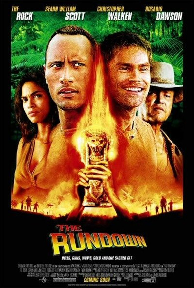 THE RUNDOWN (Doubel Sided International Aka Welcome to the Jungle) (2003) ORIGINAL CINEMA POSTER