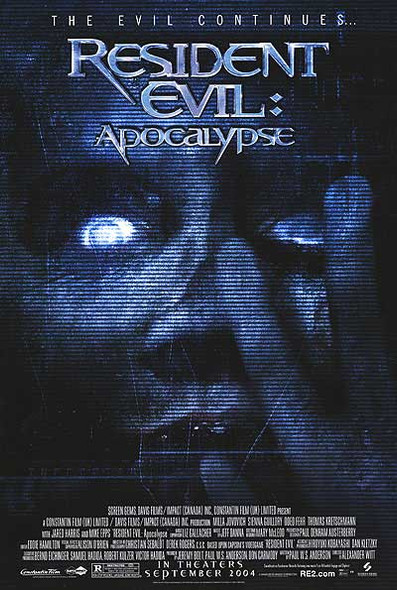 RESIDENT EVIL APOCALYPSE (SINGLE SIDED Regular Style B) (2004) ORIGINAL CINEMA POSTER