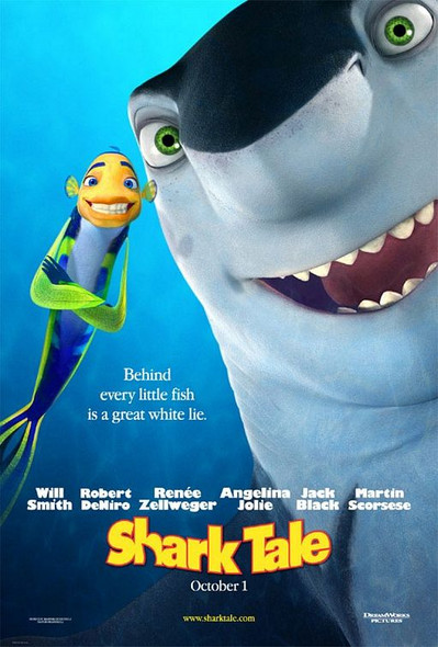 SHARK TALE (DOUBLE SIDED Advance) (2004) ORIGINAL CINEMA POSTER