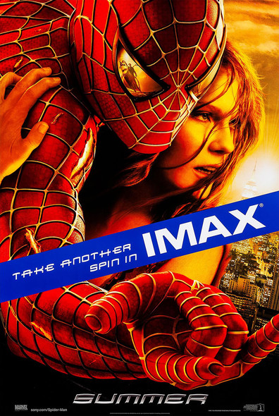 SPIDERMAN 2 (DOUBLE SIDED Imax) (2004) ORIGINAL CINEMA POSTER