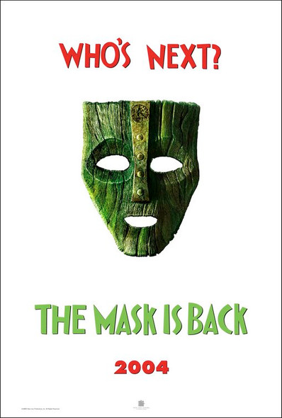 THE MASK 2 (SINGLE SIDED Advance Mylar) (FOIL FINISH) (2005) ORIGINAL CINEMA POSTER