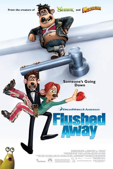 FLUSHED AWAY (DOUBLE SIDED Regular) (2006) ORIGINAL CINEMA POSTER