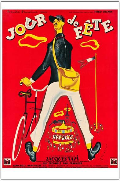 Jour De Fete (1949) Reprint Cinema Poster