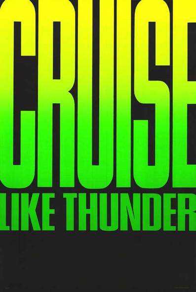 DAYS OF THUNDER (1990) ORIGINAL CINEMA POSTER