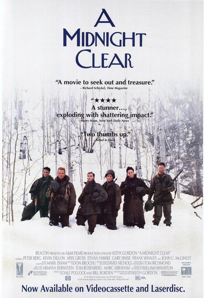 A MIDNIGHT CLEAR (SINGLE SIDED Video) (1992) ORIGINAL CINEMA POSTER