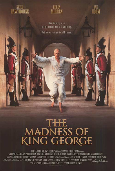 THE MADNESS OF KING GEORGE (1994) ORIGINAL CINEMA POSTER