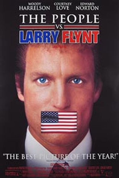 THE PEOPLE VS LARRY FLYNT (Video) (1996) ORIGINAL CINEMA POSTER