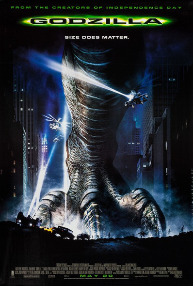 GODZILLA (Regular) (1998) ORIGINAL CINEMA POSTER