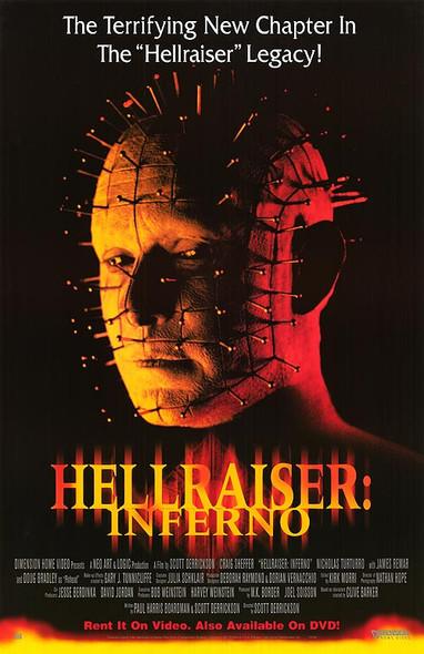 HELLRAISER: INFERNO (Video) (2000) ORIGINAL CINEMA POSTER