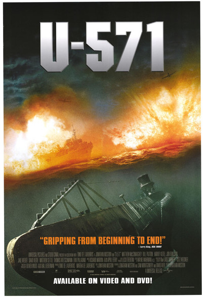 U-571 (Video) (2000) ORIGINAL CINEMA POSTER
