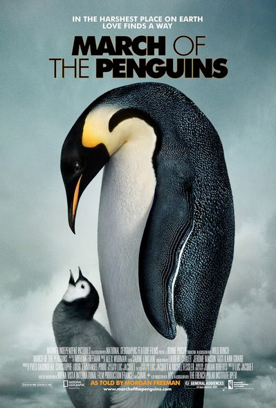 MARCH OF THE PENGUINS (SINGLE SIDED Regular) (2005) ORIGINAL CINEMA POSTER