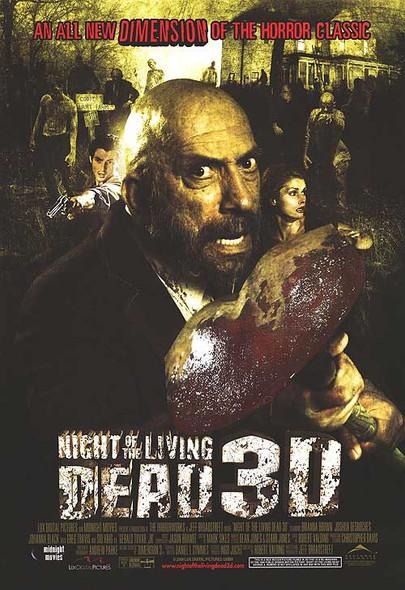 NIGHT OF THE LIVING DEAD 3D (SINGLE SIDED Regular) (2006) ORIGINAL CINEMA POSTER