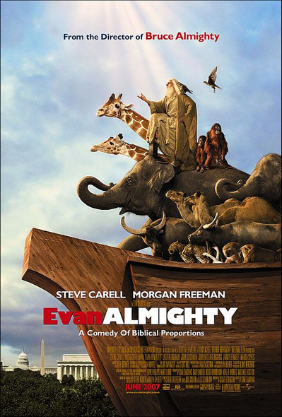EVAN ALMIGHTY (DOUBLE SIDED Regular) (2007) ORIGINAL CINEMA POSTER