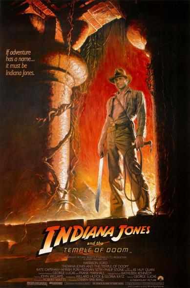 INDIANA JONES & THE TEMPLE OF DOOM (ADV Reprint) (1984) REPRINT CINEMA POSTER