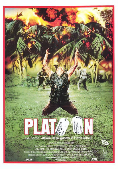 PLATOON (Single-sided Italian Reprint) (1986) REPRINT CINEMA POSTER