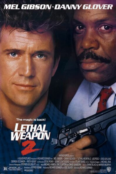 LETHAL WEAPON 2 (SINGLE SIDED Regular) (1989) ORIGINAL CINEMA POSTER