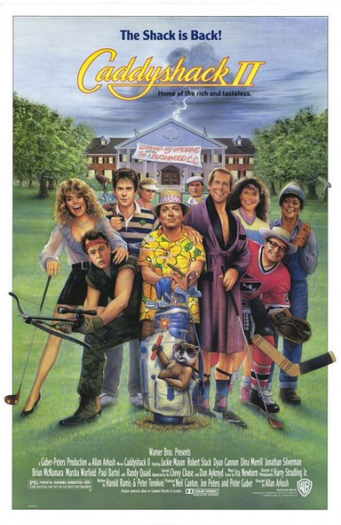CADDYSHACK II (SINGLE SIDED Regular) (1988) ORIGINAL CINEMA POSTER