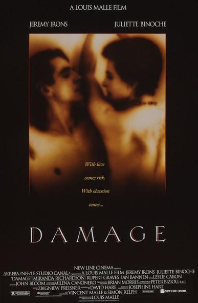 DAMAGE (SINGLE SIDED Regular) (1992) ORIGINAL CINEMA POSTER