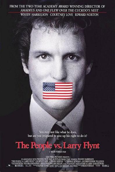 THE PEOPLE VS. LARRY FLYNT (DOUBLE SIDED Regular) (1996) ORIGINAL CINEMA POSTER