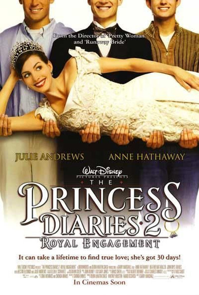 THE PRINCESS DIARIES 2: ROYAL ENGAGEMENT (DOUBLE SIDED International) (2004) ORIGINAL CINEMA POSTER
