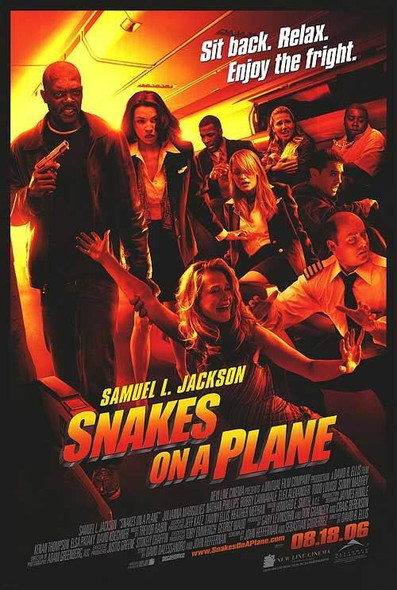 SNAKES ON A PLANE (DOUBLE SIDED Regular) (2006) ORIGINAL CINEMA POSTER