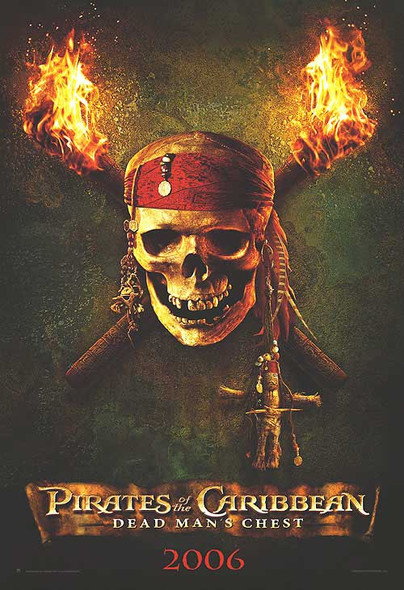 PIRATES OF THE CARIBBEAN: DEAD MAN'S CHEST (Advance Reprint) (2006) REPRINT CINEMA POSTER