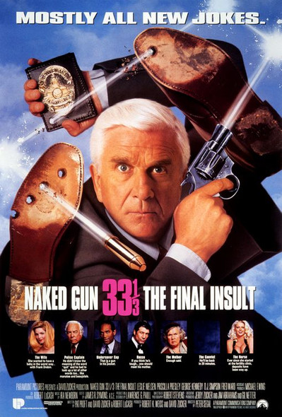 NAKED GUN 33 1/3 - THE FINAL INSULT(Double-sided) (1994) ORIGINAL CINEMA POSTER