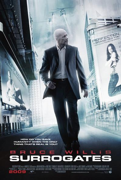 SURROGATES  double sided US ONE SHEET (2009) ORIGINAL CINEMA POSTER