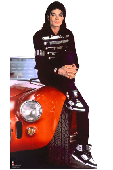 Michael Jackson with Car Lifesize Cardboard Cutout / Standee