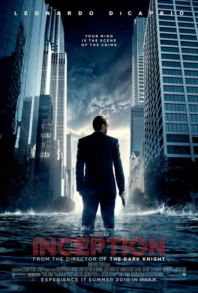 INCEPTION Poster - (Leonardo Di Caprio, Christopher Nolan, Michael Caine) double sided ADVANCE US ONE SHEET (2010) ORIGINAL CINEMA POSTER