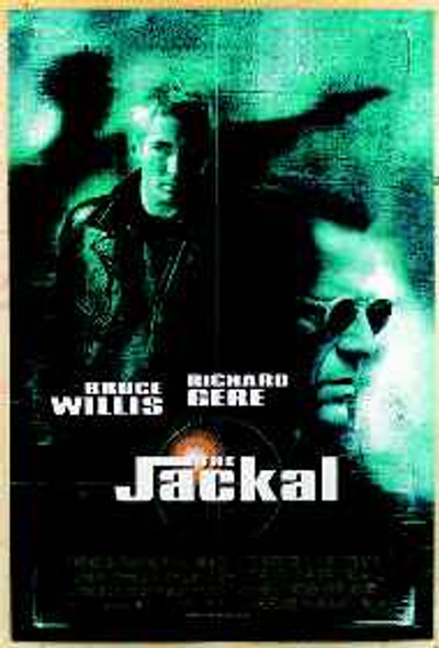 THE JACKAL (Double Sided) ORIGINAL CINEMA POSTER